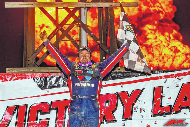 Brandon Sheppard claimed victory in the 40th annual Dirt Track World Championship Late Model race hosted for the ninth consecutive year at Portsmouth Raceway Park.