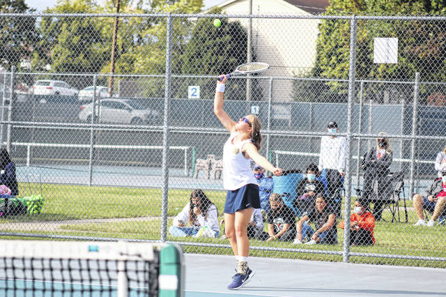 Notre Dame's Kathryn Nelson qualified for the 2020 Division II girls district tennis tournament as a singles player from Wednesday's sectional tournament, which was hosted at Shawnee State University and Portsmouth High School.