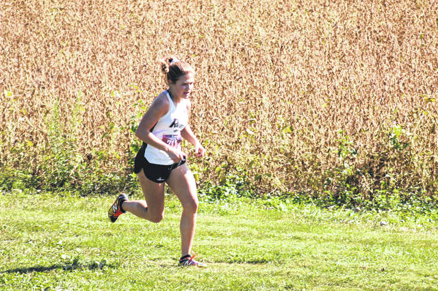 River Valley's Lauren Twyman finished in first-place among 58 competitors in the high school girls race as part of the 2020 Portsmouth XC Invitational hosted at Earl Thomas Conley Park in West Portsmouth.