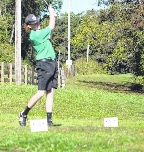 Josh Hammonds of Green was the only Bobcat representative which competed in Wednesday's Division III boys golf sectional tournament at Franklin Valley Golf Club.
