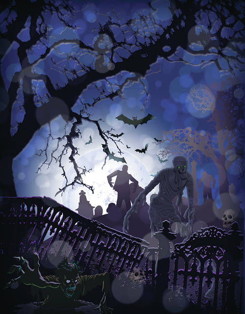 A Halloween full moon occurs only once every 18 to 19 years.
