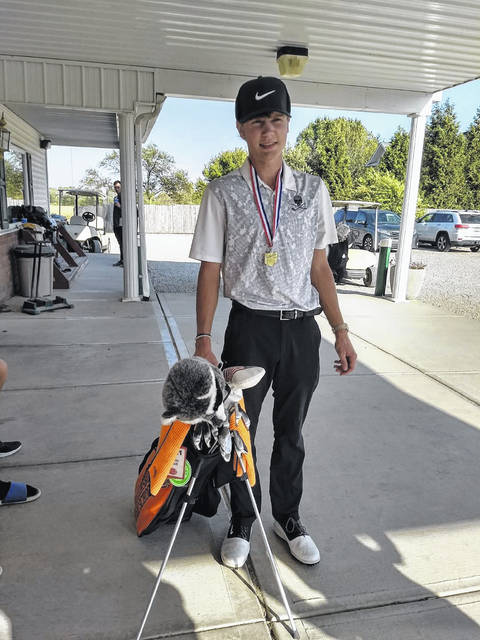 Wheelersburg senior Trevin Mault fired a 74 to capture match medalist honors at last week's Division II Southeast District boys golf tournament at Crown Hill Golf Club. Mault qualified for the Division II state tournament as a result.