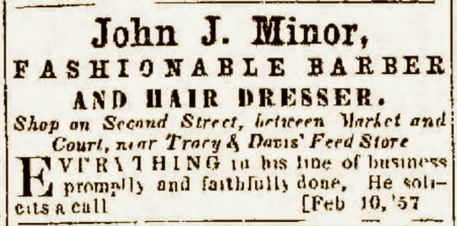 John J. Minor grew up in Portsmouth, married an African-American woman from Kentucky, raised a family, built a successful barbershop business, and helped secure the charter of Portsmouth's Trinity Lodge, No. 9, of Free and Accepted Masons. Minor would serve as the lodge's first Worshipful Master, beginning in 1871.
