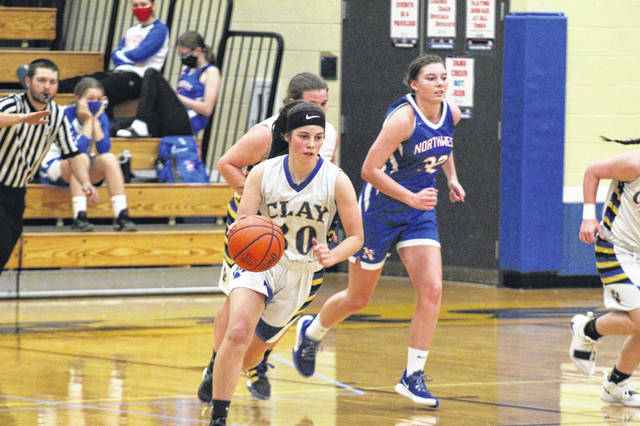 Clay senior Katherine Cochran (30) scored a team-high 13 points in the Lady Panthers' season opener versus visiting Northwest on Saturday.