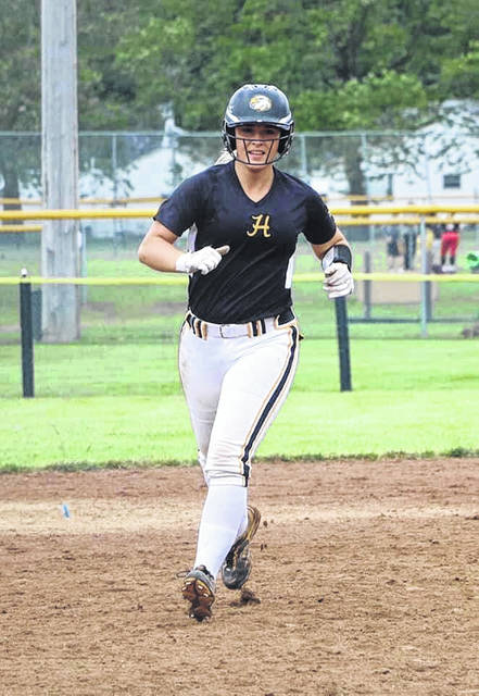 Former Northwest High School softball standout Laiken Rice, shown here running during a game with her Ohio Hawks' travel team, has transferred to play softball for Shawnee State University.