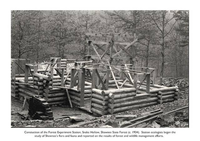 Construction of the Forest Experiment Station in Snake Hollow, Shawnee State Forest, Scioto County, Ohio I