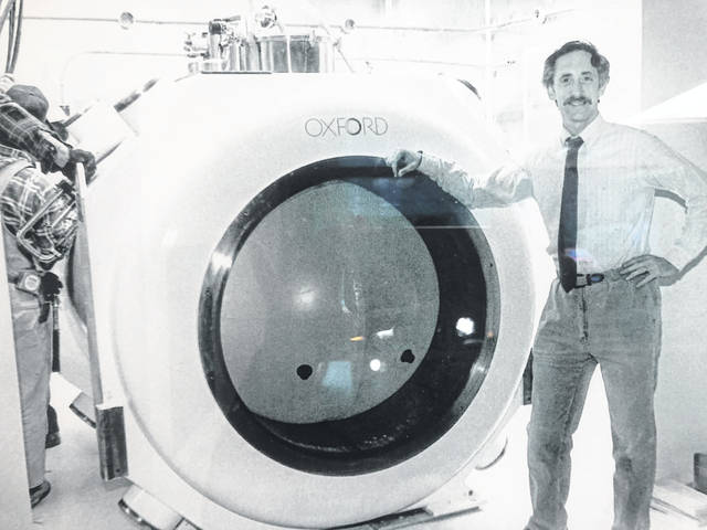 The soon-to-be retired Dr. Norman Jacobs will leaving from Southern Ohio Medical Center after 31 years of employment as a radiologist. Here Dr. Jacobs is pictured in 1989 when the Southern Ohio Magnetic Resonance Center first opened.