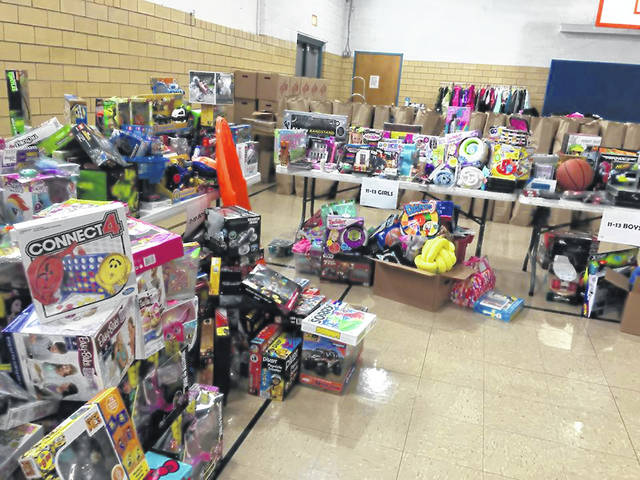 What the Salvation Army Angel Tree program is able to do for the kids in need, all the presents are arranged by ages and the parents or guardians are able to get things for their kids that they would not have been otherwise able to do.