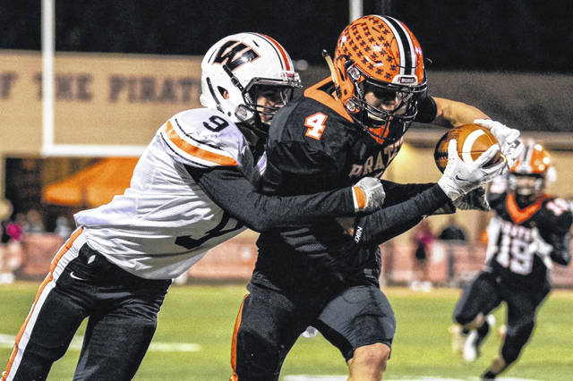 West senior Luke Bradford (9) repeated to the Division V all-Ohio football team, as this season he earned first-team honors as a defensive back.