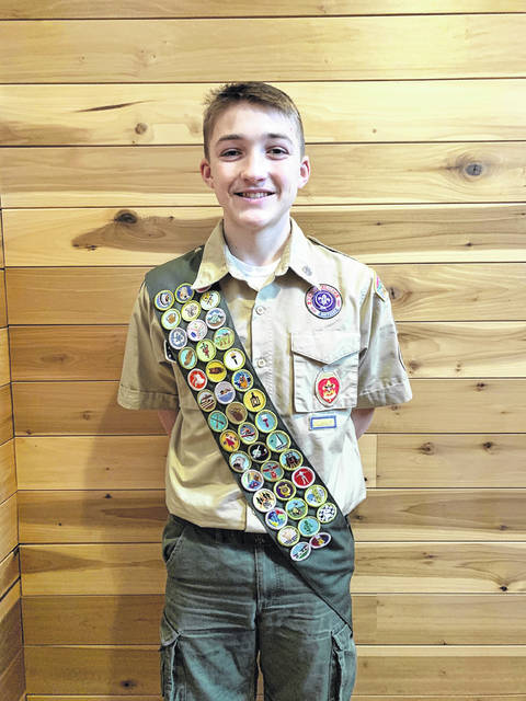 Ethan Beckett from BSA Troop 12 in Portsmouth received the rank of Eagle Scout.