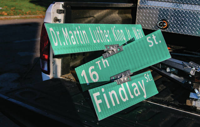 Portsmouth City Council gathered Tuesday afternoon to see the dedication of a portion of Findlay Street to Dr. Martin Luther King Jr. Photo by Adam Black.