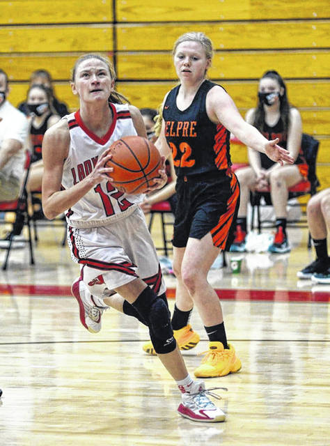 South Webster junior Bri Claxon (15) scored a career-high 43 points in Saturday's 64-46 win over Eastern, breaking the Lady Jeeps' single-game scoring record, previously held by 2010 graudate Kayla Cook, who scored 39 points in a single game. <em>(File photo)</em>