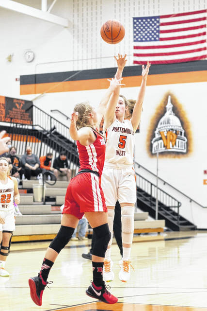 West junior Eden Cline scored a team-high 15 points during the Lady Senators' 52-37 win over South Webster on Monday night in Southern Ohio Conference Division II play. <em>(File Photo)</em>