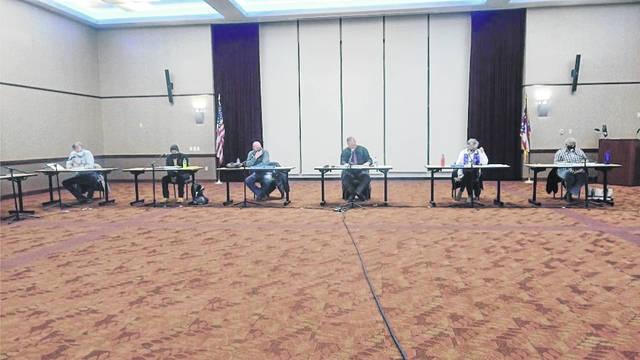 Portsmouth City Council convened on Feb. 8 in regular session at the Shawnee State University Ballroom. Photo by Patrick Keck.