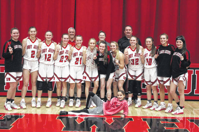 The 2020-21 South Webster Lady Jeeps defeated the New Boston Lady Tigers 64-47 in Saturday's Division IV sectional championship game, hosted on the Lady Jeeps' home court.