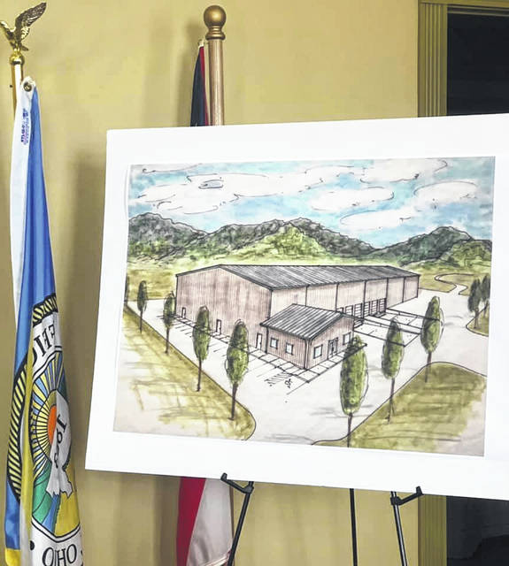 Scioto County Economic Development Director Robert Horton discussed the pictured S.O.A.R. project during the commissioner's meeting on Thursday.