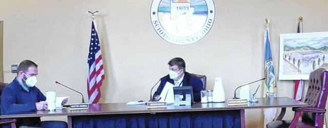 The Scioto County Commissioners held their regularly scheduled Thursday meeting on March 11. Photo by Patrick Keck.