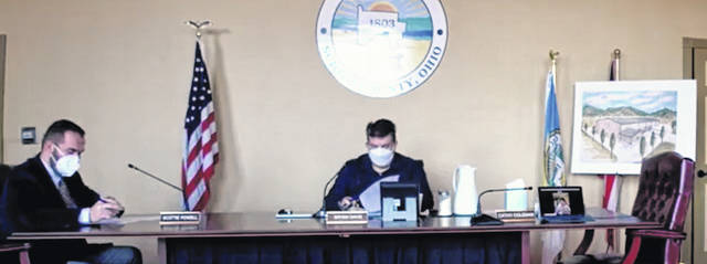 The Scioto County Commissioners convened on Thursday for its regular session, reviewing 13 items on its agenda. Photo by Patrick Keck.