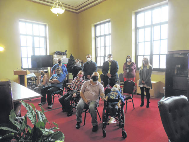 The Scioto County Commissioners denoted Developmental Disabilities Awareness Month last week at the courthouse. Photos courtesy of Scioto Board of DD.