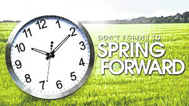 Daylight Saving Time means springing forward an hour in the wee hours Sunday morning.