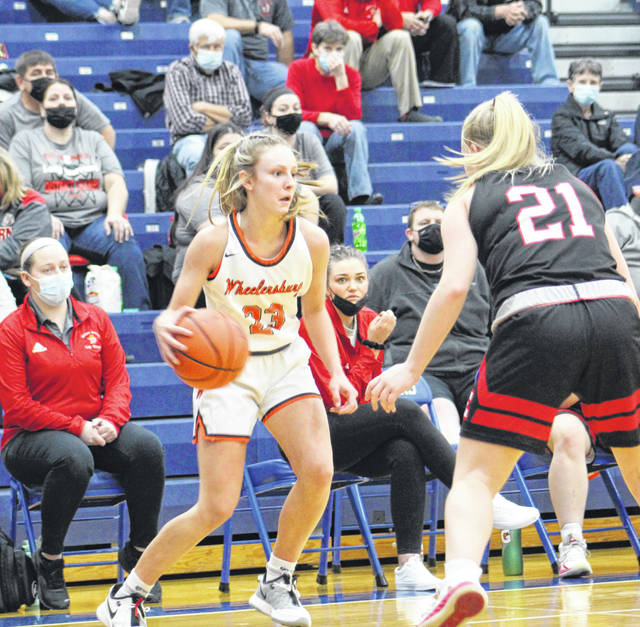Wheelersburg's Kaylee Darnell (23) was a three-time all-Southeast District Division III first-team selection, as chosen by the Ohio Prep Sports Writers Association.