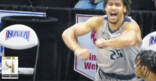 Shawnee State freshman Latavious Mitchell and the Bears appeared on the Tuesday, March 23 edition of <em>SportsCenter's</em> Top 10 plays — after their 74-68 win over Lewis-Clark State in the NAIA National Championship.