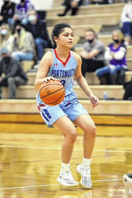 Portsmouth's Nia Trinidad repeated to the all-Ohio Valley Conference girls basketball team for the 2020-21 season, as she was named first team all-OVC this season after earning Honorable Mention last year.