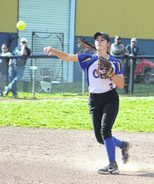 Clay shortstop Kat Cochran (3) had four defensive assists and one putout plus the Panthers' only hit in their Southern Ohio Conference Division I softball loss at Notre Dame on Monday.
