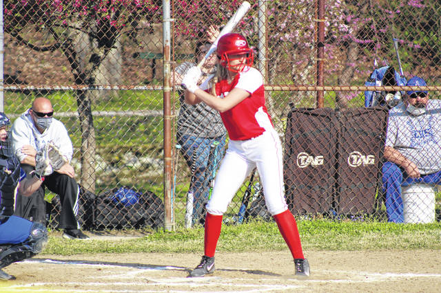 New Boston senior Shelby Easter went 2-of-3 with three RBI and three runs scored in the Lady Tigers win over East in SOC I play.