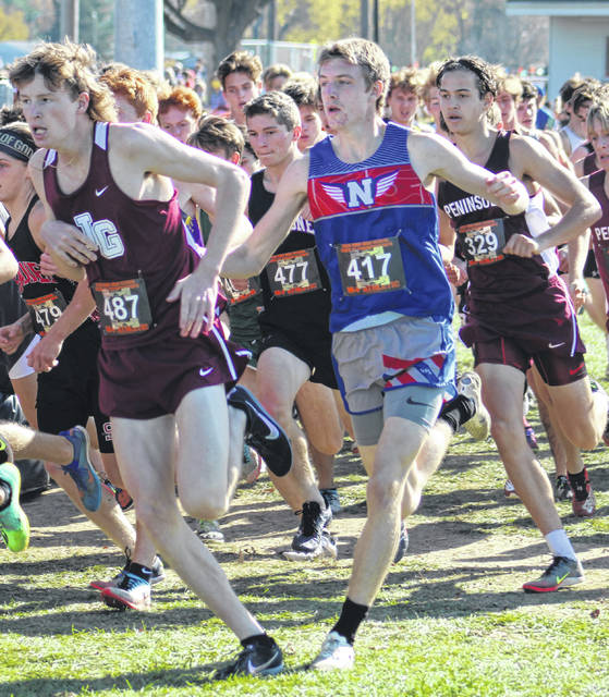 Northwest senior Landen Smith, shown here during November's state cross country championship meet at Fortress Obetz, was a two-time all-Ohioan in cross country.