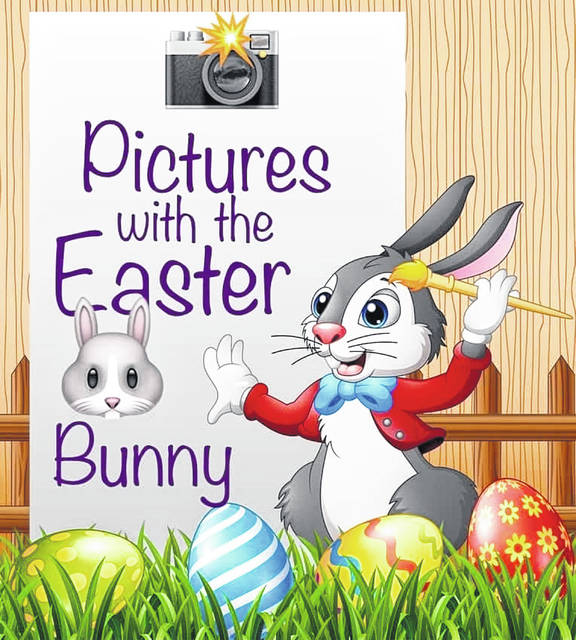 Kids can have their pictures taken with the Easter Bunny all day.