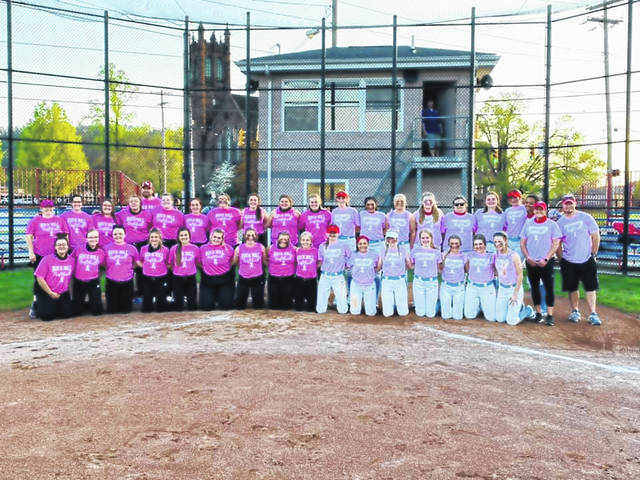 The Portsmouth Lady Trojans and Rock Hill Redwomen played for a cause on Friday, raising money via donations for the SOMC Breast Cancer Compassion Fund.