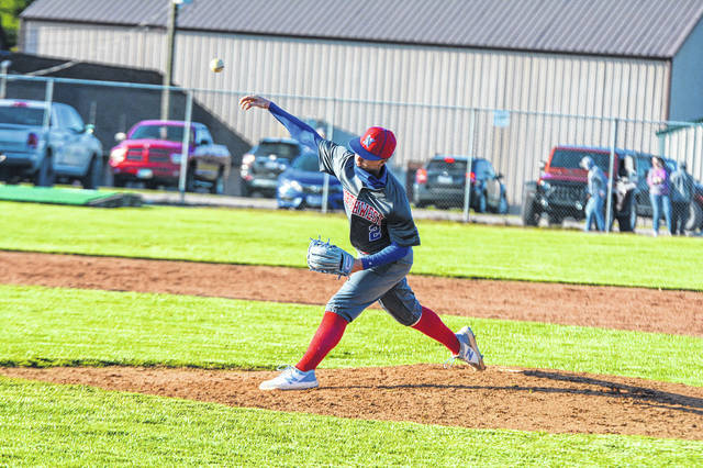 Northwest sophomore Dakota Secrest (2) allowed two hits and no earned runs while striking out 10 Jeep hitters in the Mohawks' 4-2 win over South Webster in SOC II play. <em>(File Photo)</em>