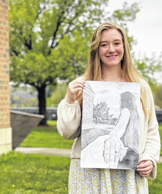 Artwork by Tylan Osborne, a senior at Northwest High School, was chosen as Best of Show during the 2021 Scioto County High School Visually Literate Art Show.