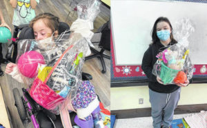 Brother and sister donate Easter baskets