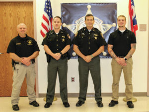 Sheriff swears in new officers, promotes Malone