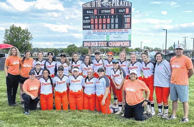 The Wheelersburg Pirates captured a Division III softball sectional championship on Friday, posting a 17-0 shutout win over visiting Lynchburg-Clay.