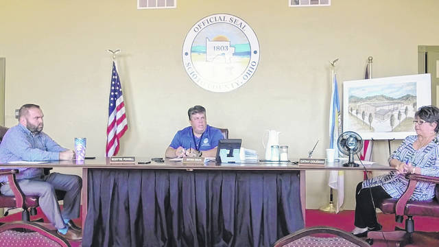 The Scioto County Commissioners had a lengthy agenda of 25 items during its Thursday morning session.