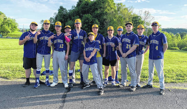 The Clay Panthers captured the 2021 Southern Ohio Conference Division I outright baseball championship, thanks to Thursday's 5-4 11-inning victory at Symmes Valley to complete a suspended game from April 26.