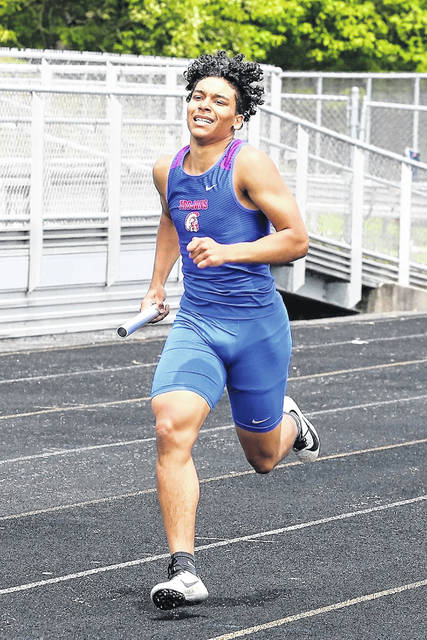 Portsmouth junior Donavon Carr was a member of Portsmouth's 4x200 team, alongside teammates Beau Hammond, Chris Duff, and Devon Lattimore, that finished in second place narrowly to host Rock Hill.