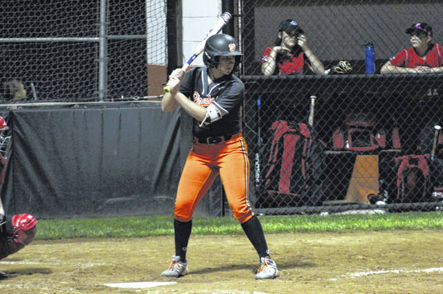 Wheelersburg freshman AndiJo Howard (32) ended Wednesday's Division III district semifinal versus Fairfield with a walk off 3-run home run in the sixth inning.