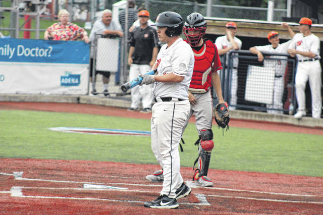 Wheelersburg senior Braden Horr (7) had an RBI triple during Wheelersburg's three run fifth inning to give the Pirates a 4-0 lead over Eastern Brown in a Division III district final.