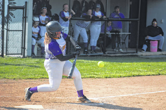 Valley junior Lexi Whitt (10) had a hit, scored twice, and drove in two Indian runs in their 12-0 win over North Adams in a Division III sectional semifinal.