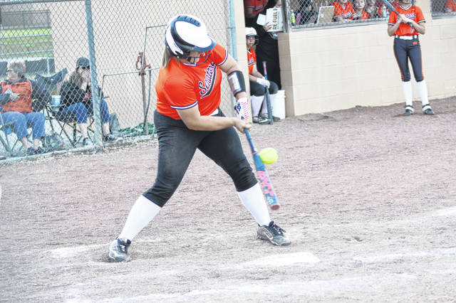 West junior Abi Boland (10) led the Lady Senators with two hits in their 3-1 loss to Alexander in a Division III sectional final on Friday.