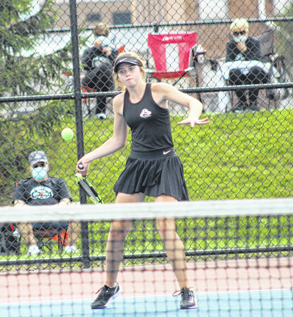 Wheelersburg's Maddie Gill qualified all four years for the Division II girls state tennis tournament — three with former doubles partner Kaitlyn Sommer and in her senior season as a singles player.
