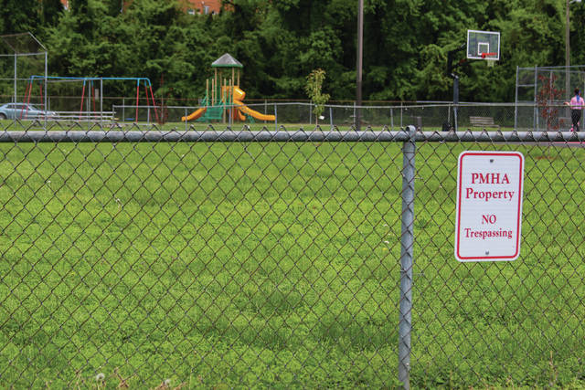 The field next to Bannon Park owned by the PMHA is up for disccussion after plans of removing some of the green space for a parking lot raised concerns.