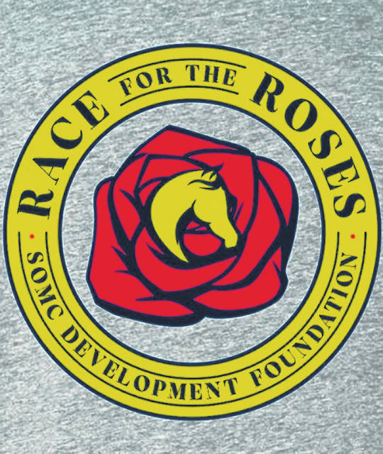 The Race for the Roses logo that is on the back of their T-shirts, that are also for sale.