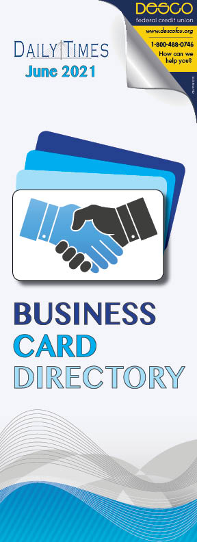 Business Card Directory June 2021