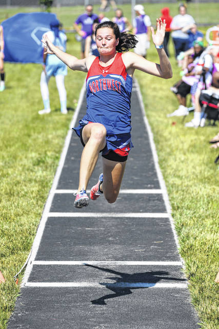 Northwest senior Haidyn Wamsley secured seventh-place in the girls long jump as part of Saturday's Division II state track and field meet at Pickerington North High School.