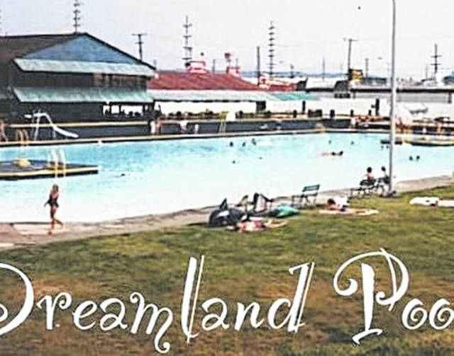 An old photo of the Dreamland pool at its finest, in Portsmouth.